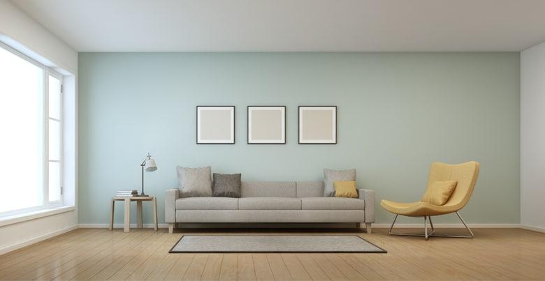 Woonkamer schilderen in twee kleuren
