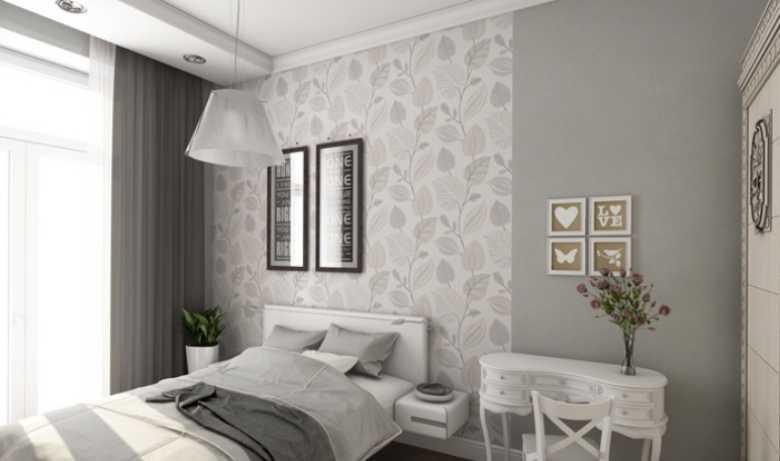 woonkamer behangen in twee kleuren